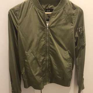 Dotti khaki bomber jacket