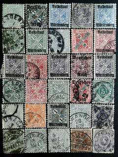 German old vintage stamps