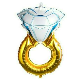 Diamond Ring Aluminium Balloon