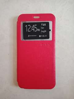 LEATHER CASE OPPO A59 WARNA RED