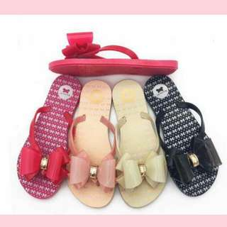 Cute Ribboned Slippers 36 to 40
