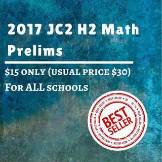 🚚 H2 Mathematics 2017 JC2 // A Levels // Tertiary education Exam Papers, past year papers, test papers #CarouPay