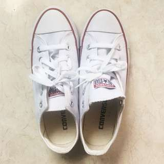 FREE postage Preloved Converse All Star In White