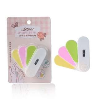 Four Colored Mini Rotary filer for Nails