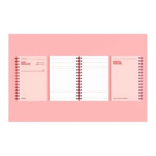Korea MoteMote Half Year Task Manager Note Book Pink