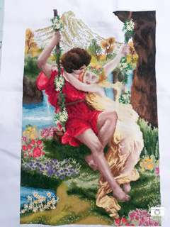 Lover's in paradise (crosstitch)