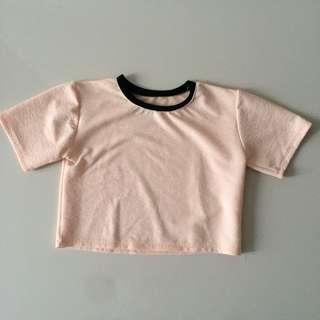 Peach Ringer Top