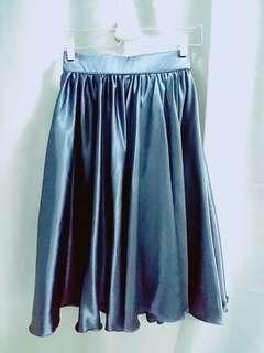 Silky Navy Blue Skirt