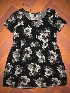 [MATERNITY] Black floral dress