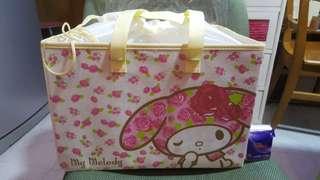 絕版My Melody 索繩手提布儲物盒,全新未用過、有袋