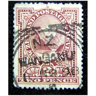 1898年英屬紐西蘭庫克山峰2便士郵票(英女皇維多利亞時期)