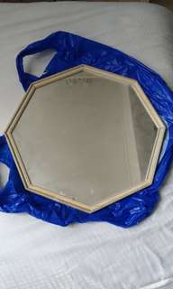 Vintage hexagon mirror