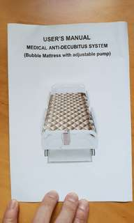 Air mattress (medicial grade) for bed sore prevention