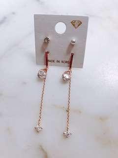 全新 韓國耳環 Earrings x2
