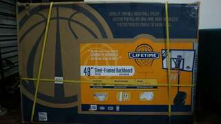 "LIFETIME 48"" Steel-Framed Shatter-Proof Backboard"