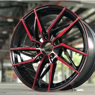 17吋鋁圈 5孔114 三色璇爪現貨任挑 搭配215/45/17國產輪胎 高CP完工價