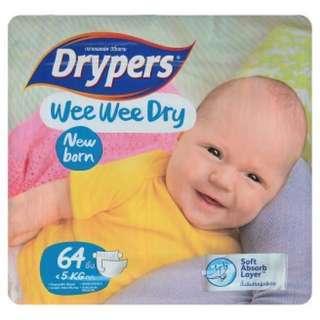 Drypers Wee WeeDry Newborn 2 bag!