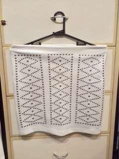 SALE Mango white mini skirt