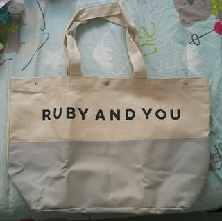 RUBY and you tote bag