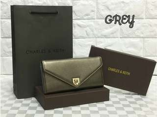 Charles & Keith Wallet Grey Color