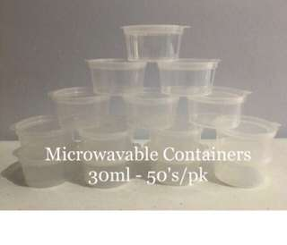 Microwavable Containers 30ml (50pcs/pk)