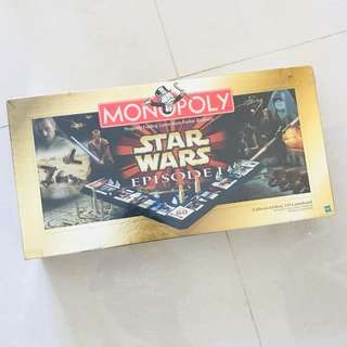 BNIB Star Wars Episode I Monopoly Board Set