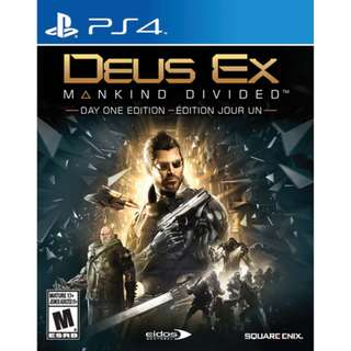 Playstation 4 PS4 Deus Ex