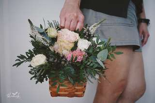 Basket of Roses Bouquet - Birthday / Anniversary