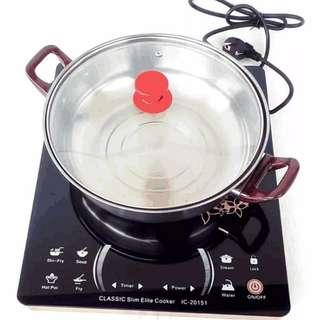 Kompor Induksi Elite Cooker Plus Panci - Kompor Listrik