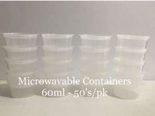 Microwavable Containers 60ml (50pcs/pk)