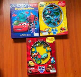 Disney Suction Cup / Figurines And A Story Books