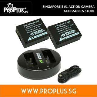 Wasabi Power Battery Set for Fujifilm NP-W126