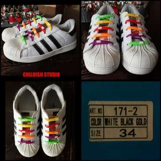 ADIDAS SUPERSTAR Shoes (Copy) for kids size 34.