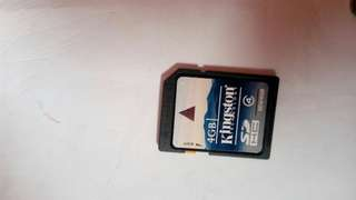Kingston SDHC card 4GB