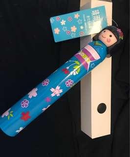 全新日本娃娃雨傘