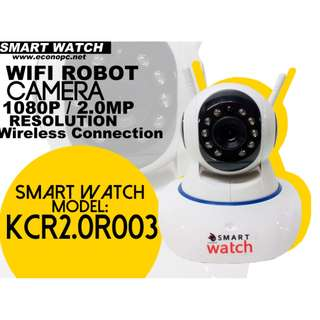 Smart Watch CCTV Wifi Robot Camera for Indoor and 2MP Resolution