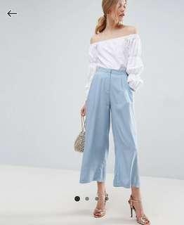 🚚 ASOS Pleat Woven Culotte Trousers