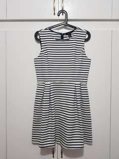Forever21 Navy striped dress