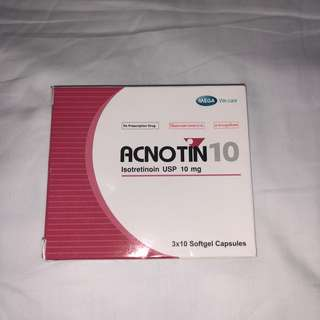 Acnotin 10 (10 capsules only)