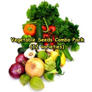 Vegetable Seeds Combo Pack (12 varieties)