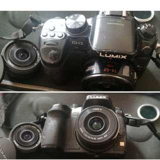 Panasonic Lumix GH3 body camera with 2 Lumix lens