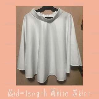 Mid-length White Skirt