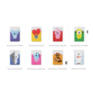 【Korea Buying Service】Monopoly x BT21 Clear Card Case