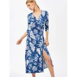 Maxi Patterned Swing Wrap DressTG*ready stock*