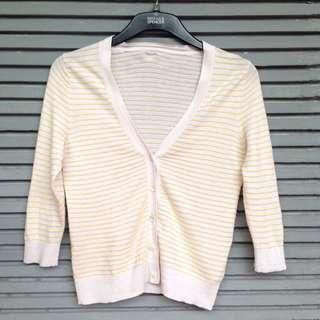 cardigan yellow stripe