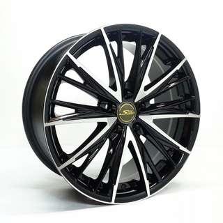 17吋鋁圈 5孔114 類原廠款&黑底亮面款 四款現貨任挑 搭配215/45/17國產輪胎 高CP完工價