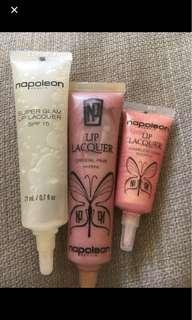 3 Napoleon Perdis lip lacquers