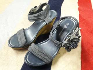 Board Walk Denim Wedge