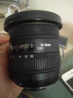 Wts sigma 10-20 f3.5 fix for nikon