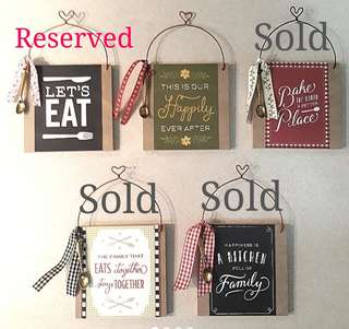 Discount: last 2 Country Kitchen Signage